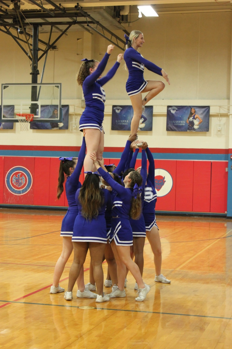 photo essay blue devils senior night devil s advocate digital stanton varsity cheerleaders bulding a pyramid 7431